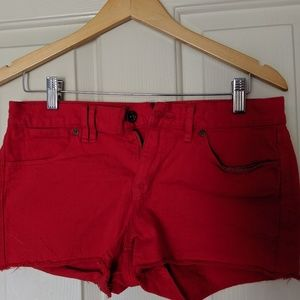 Madewell- Red regular size 27 Jean shorts